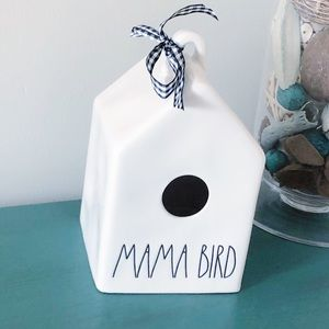 Rae Dunn MAMA BIRD decorative birdhouse NEW